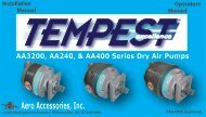 Dry Air Pump (NEW) Users Manual 011508 - Aero Accessories, Inc.