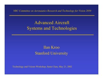 Advanced Aircraft Systems and Technologies