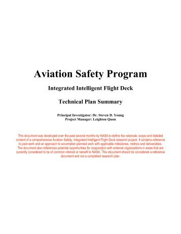 Human Integration in the Life-cycle of Aviation ...