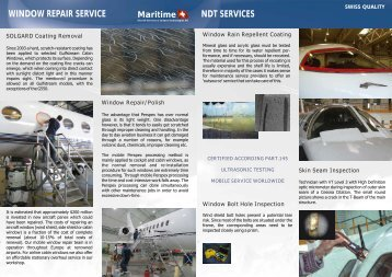 WINDOW REPAIR SERVICE NDT SERVICES - MARITIME - Aircraft ...