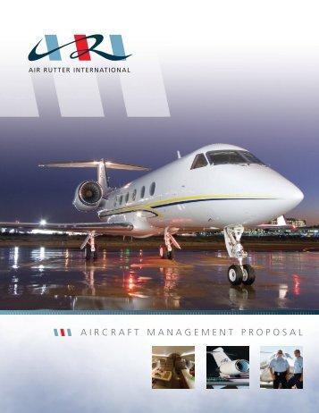AIRCRAFT MANAGEMENT PROPOSAL - JFI Jets