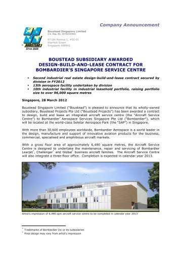 Boustead Subsidiary Awarded Design-Build-and-Lease Contract