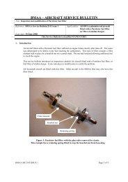 bmaa – aircraft service bulletin - British Microlight Aircraft Association