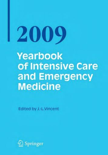 Yearbook of Intensive Care and Emergency Medicine 2009