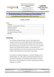 Probeneinsendung zur Zytologischen Untersuchung - LKH Graz West