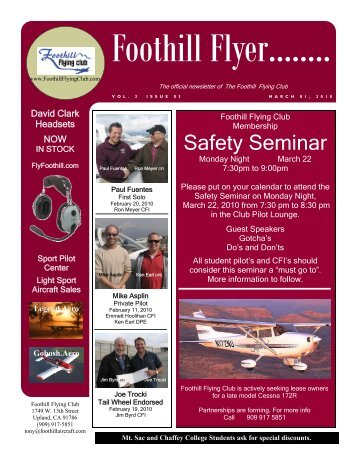 New Homebuilt aircraft are taking to the skies - Foothill Flying Club