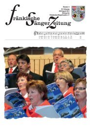 Nummer 4 58. Jahrgang Juli/August 2011 Zeitung - Fränkischer ...