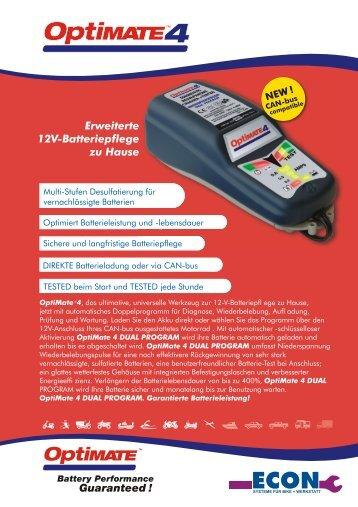 Erweiterte 12V-Batteriepflege zu Hause