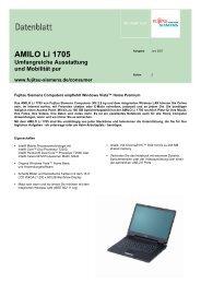 AMILO Li 1705 Umfangreiche Ausstattung und ... - Onyougo.de