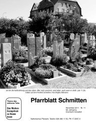 Pfarrblatt Schmitten - Pfarrei Schmitten
