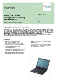 AMILO Li 1705 Umfangreiche Ausstattung und Mobilität pur - Fujitsu