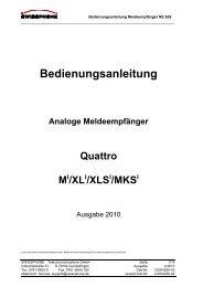 Bedienungsanleitung Analoge Meldeempfänger ... - Swissphone