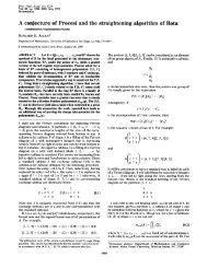 A conjecture of Procesi and the straightening algorithm of Rota
