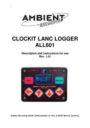 CLOCKIT LANC LOGGER ALL601 - Ambient Recording