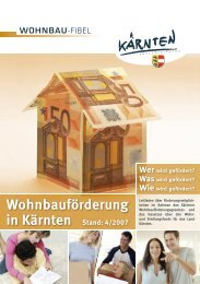 Wohnbauförderung in Kärnten Stand: 4/2007 - BAUwissen.at