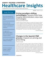 Healthcare Insights Fall 2011 - Simon-Kucher & Partners