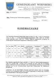 GEMEINDEAMT WERN BERG - Gemeinde Wernberg