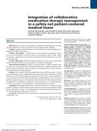 Integration of collaborative medication therapy management in a ...