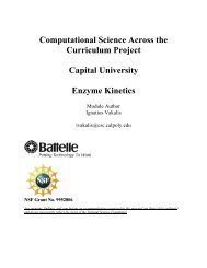 Enzyme Kinetics - Capital University
