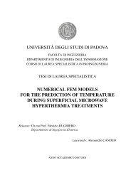 UNIVERSIT`A DEGLI STUDI DI PADOVA NUMERICAL FEM ...