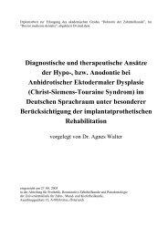 Diagnostische und therapeutische Ansätze der Hypo-, bzw ...