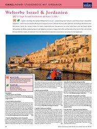 Welterbe Israel & Jordanien - TravelCMS