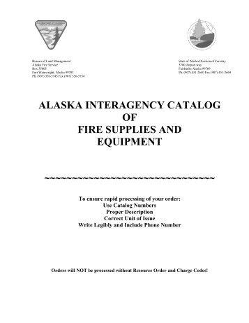 alaska interagency catalog of fire supplies and equipment