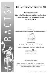 Transportkeramik in der Antiken Welt - DEGUWA