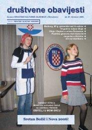 97 NASLOVNA.pub - Hrvatska kulturna zajednica u Švicarskoj