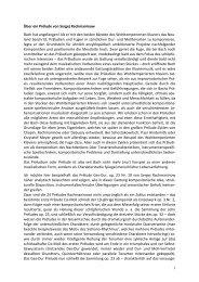 1 Über ein Prélude von Sergej Rachmaninow Bach ... - Franz Kaern