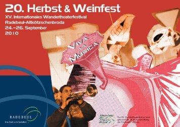 Programmheft_Weinfest_2010 - Herbst- und Weinfest Radebeul