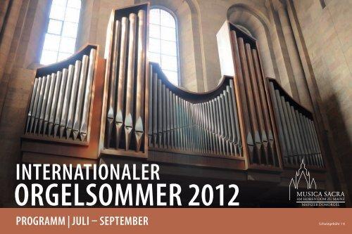 Programm - Domorgel Mainz, Domorganist Daniel Beckmann