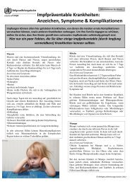 Vaccine-preventable diseases: Signs, symptoms & complications (ger)