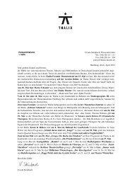 Pressemitteilung Thalia Theater Mai 2012