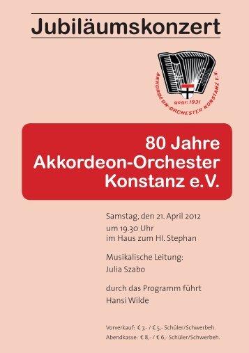 Vorwort - Akkordeonorchester Konstanz