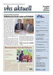 Ausgabe III/2011 - Download - VHS Landkreis Hof