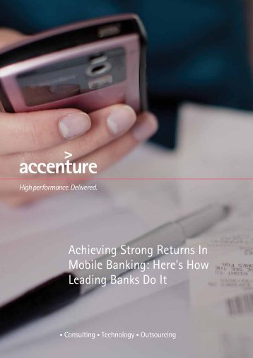 Achieving Strong Returns In Mobile Banking: Here's How Leading ...