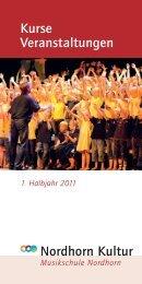 Kurse Veranstaltungen Nordhorn Kultur - Musikschule Nordhorn