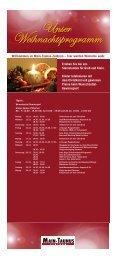 Weihnachtsprogramm - Main-Taunus-Zentrum