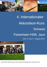 Auschreibung Akkordeon-Kurs 2012