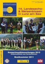 14. Landesecho- & Weisenblasen in Lunz am See