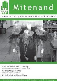Hauszeitung Ausgabe Nr. 67 vom Dezember 2010 - Brunnen