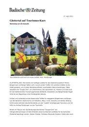 Glottertal auf Tourismus-Kurs - GRUPPE DREI - Standortmarketing