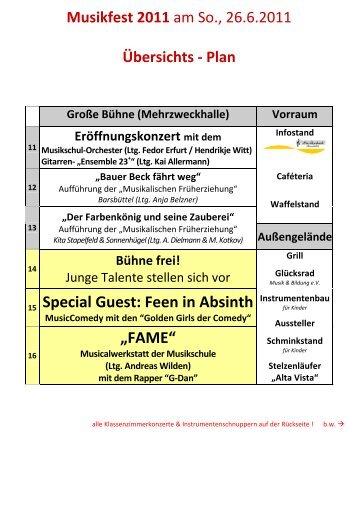 """Special Guest: Feen in Absinth """"FAME"""" - Musikschule Barsbüttel"""
