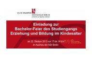 Programm - Alice Salomon Hochschule Berlin