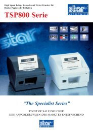 """The Specialist Series"" TSP800 Serie"