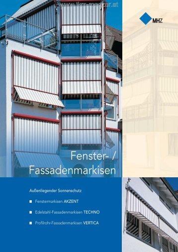 MHZ Prospekt Fenster- und Fassadenmarkisen - TKM Klaus Madzar