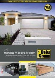 Garagentorprogramm 2/2 - Belu Tec