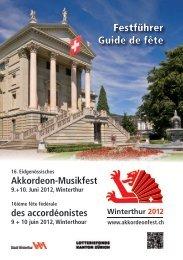 16. Eidgenössisches Akkordeon-Musikfest - EAMF 2012 Winterthur