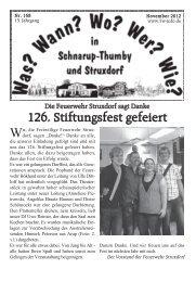 November 2012 - Wann? Wo? Wer? Wie? in Schnarup-Thumby